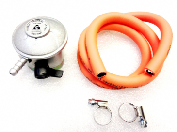 Propane 27mm Clip On GAS REGULATOR & HOSE SET